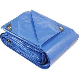 Lona reforçada de polietileno azul 6 m x 6 m  PLUS