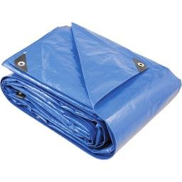 Lona reforçada de polietileno azul 9 m x 8 m  PLUS