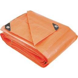 Lona reforçada de polietileno laranja 6 m x 6 m  PLUS