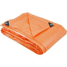 Lona de polietileno laranja 7 m x 4 m