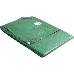 Lona de polietileno verde 6 m x 4 m
