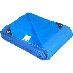 Lona reforçada de polietileno azul 15 m x 4 m  PLUS
