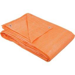 Lona de polietileno laranja 6 m x 6 m