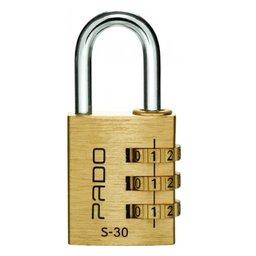 Cadeado Segredo S-30 3 Dígitos em Latão