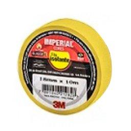 Fita Isolante Imperial Amarela 18mm x10m