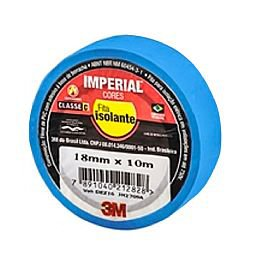 Fita Isolante Imperial Azul 18mm x 10m