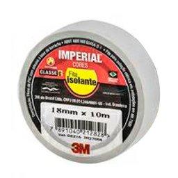 Fita Isolante Imperial Branca 18mm x 10m