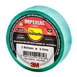 Fita Isolante Imperial Verde 18mm x 10m