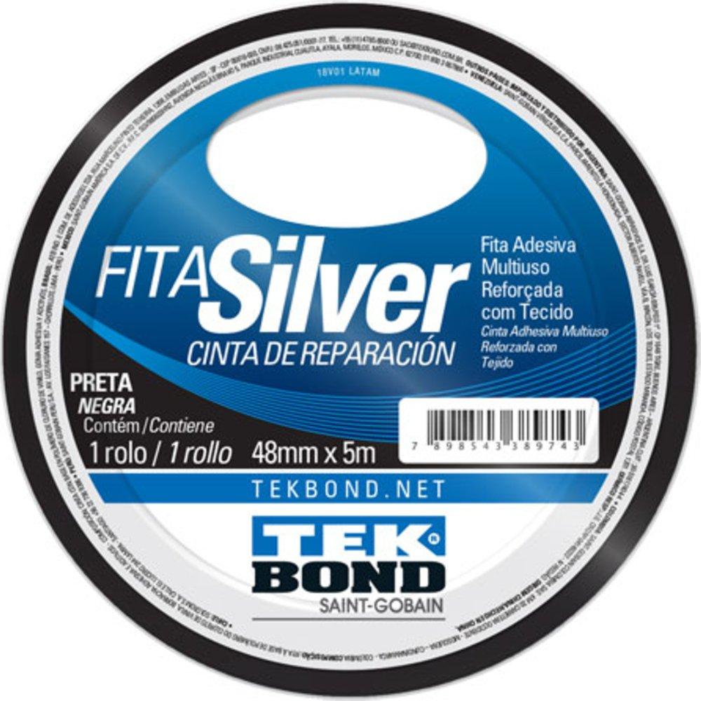 Fita Silver Tape Preta 48mm x 5m