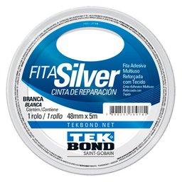 Fita Silver Tape Branca de 48mm x 5m