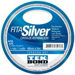 Fita Silver Tape Azul de  48mm x 5m