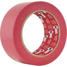 Fita adesiva para demarcação 48 mm x 30 m vermelha NOVE54
