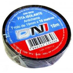 Fita Isolante PVC Preta 19mm x 10 Metros