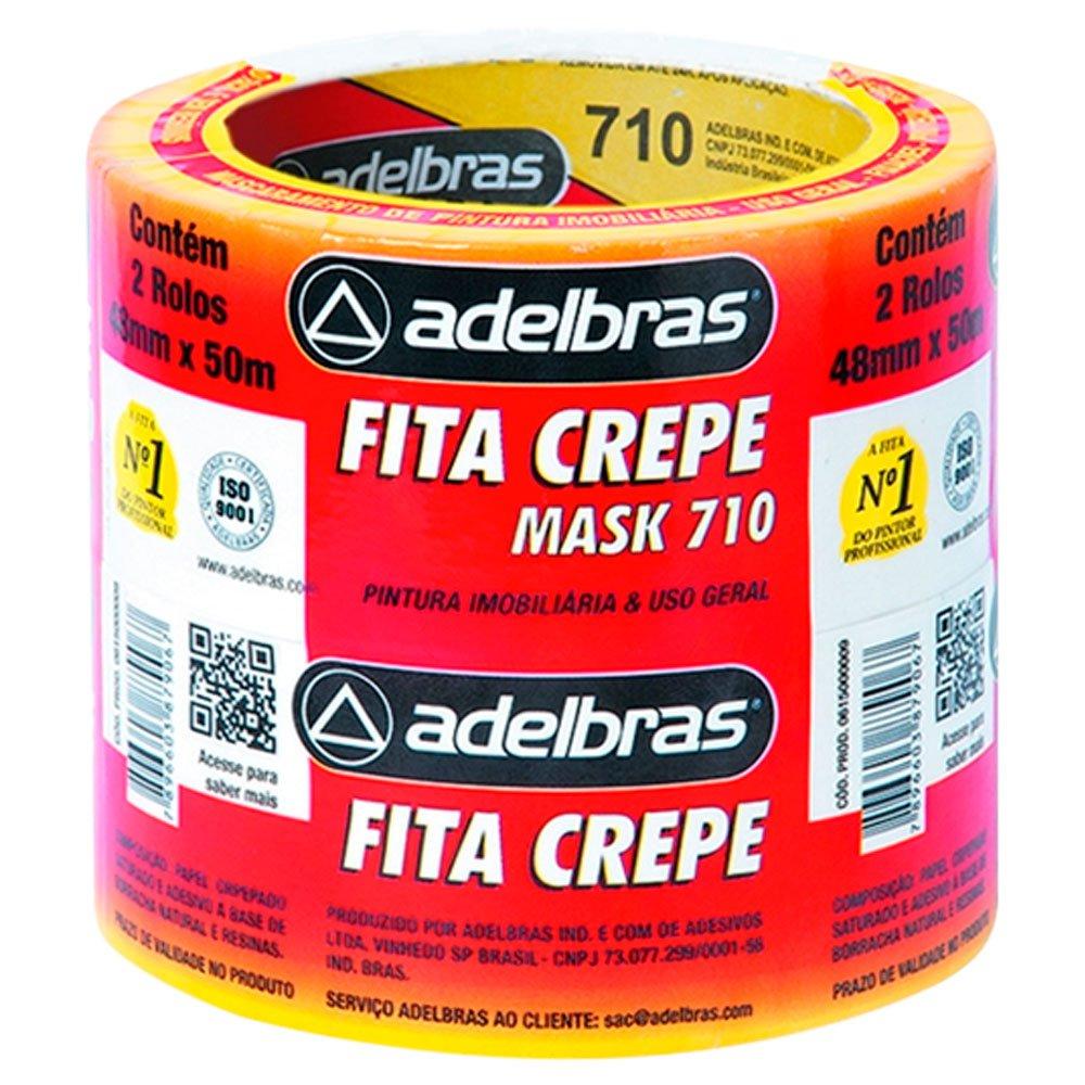 Fita Crepe 48mm x 50 Metros Mask Uso Geral com 2 Unidades