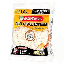 Fita Dupla Face Espuma 19mm x 5m Fixa Pro