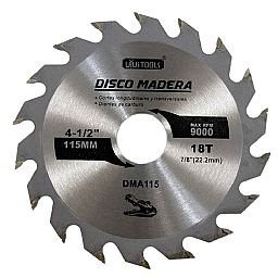 Disco de Serra Circular de 4.1/2 Pol. para Madeira - 18 Dentes
