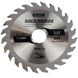 Disco de Serra Circular de 4.1/2 Pol. para Madeira - 24 Dentes