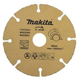 Disco de Corte 110 x 20 mm com Grãos para Madeira