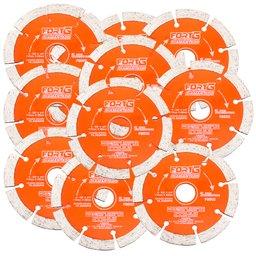 Kit Discos de Corte FORTGPRO-FG002 Diamantado Segmentado 4.3/8 Pol. com 10 Unidades