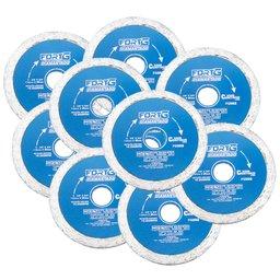 Kit Discos de Corte FORTGPRO-FG003 Diamantado Contínuo Liso 4.3/8 Pol. com 20 Unidades