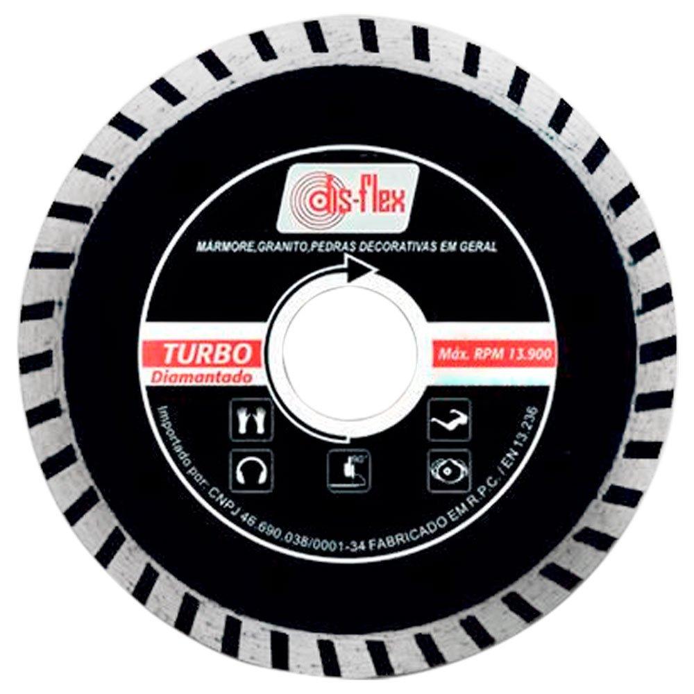 Disco Diamantado Turbo 7.1/4 x 7/8 Pol. com Bucha 22,2mm