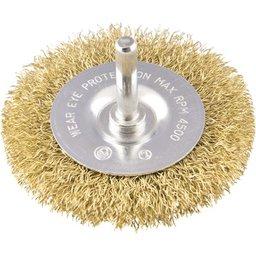 Escova circular 3 Pol. x 3/8 Pol. haste de 1/4 Pol. (76,2 mm x 9,53 mm x 6,35 mm) VONDE
