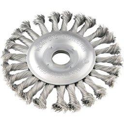 Escova circular 4.1/2 Pol. x 1/2 Pol. x 7/8 Pol. torcida em aço inox VONDER