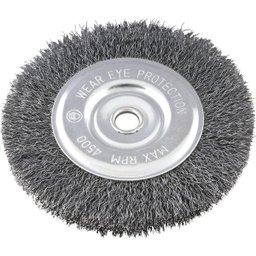Escova circular 6 Pol. x 1/2 Pol. x 5/8 Pol. (152 mm x 12,7 mm x 15,9 mm) VONDER