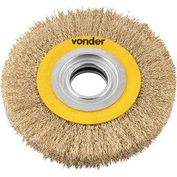 Escova circular 6 Pol. x 3/4 Pol. (152 mm x 19,1 mm) com bucha de redução VONDER