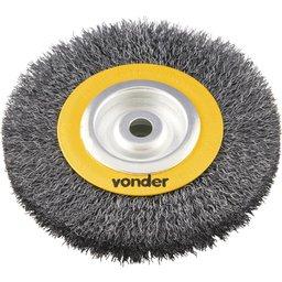 Escova circular 6 Pol. x 3/4 Pol. x 5/8 Pol. (152 mm x 19,1 mm x 15,9 mm) VONDER