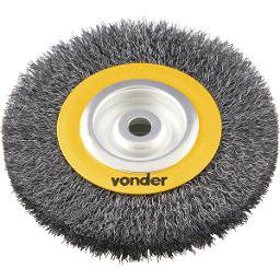 Escova circular 6 Pol. x 1 Pol. x 3/4 Pol. (152 mm x 25,4 mm x 19,1 mm) VONDER