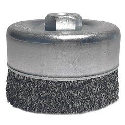 Escova de Aço Carbono tipo Copo Ondulado 3 x 1/4 Pol.