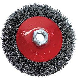 Escova Circular de Aço Ondulada 4Pol. Haste 6mm Rosca M14