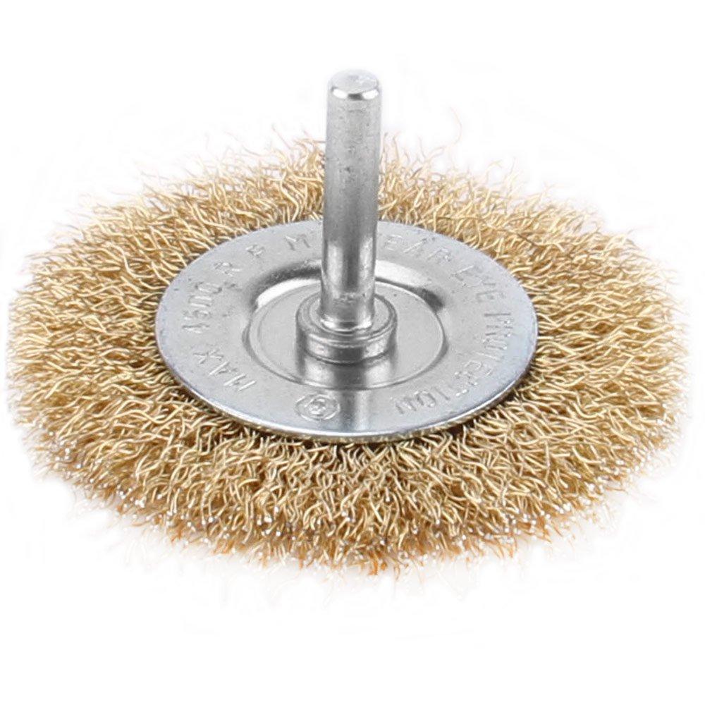 Escova Circular de Aço com Haste 100mm