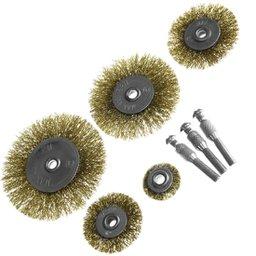 Conjunto Escovas de Aço para Furadeira 8 Peças e Encaixe 1/4 Pol.