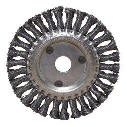 Escova Circular Trançada Aço Carbono 6x1/2x7/8 Pol.