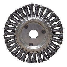 Escova Circular Trançada Aço Carbono 4.1/2 Pol.