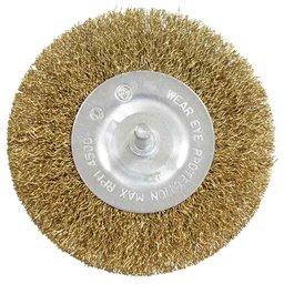 Escova Circular em Aço Carbono Latonado 100mm