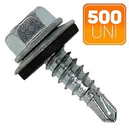 Caixa de Parafuso Sextavado Auto Brocante 4.2 x 19mm com 500 Unidades