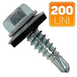 Caixa de Parafuso Sextavado Auto Brocante com Arruela 5.5mm x 2-1/2 Pol. com 200 Unidades