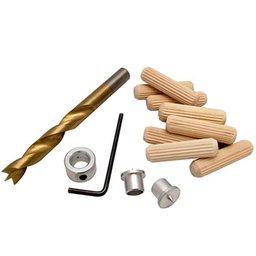 Conjunto de Cavilhas, Broca, Limitador e Centralizadores de 10mm