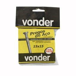 Prego de aço com cabeça 15 x 15mm - Vonder