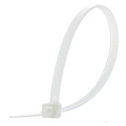 Abraçadeira de Nylon Branca 100 x 2,5 mm 100 Unidades