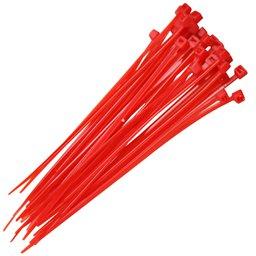 Abraçadeira em Nylon Vermelha 3,6 x 150 mm com 30 Unidades