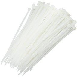 Abraçadeira de Nylon Branca 3,6 x 150 mm com 100 Unidades