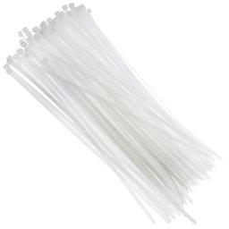 Abraçadeira em Nylon Branca 4,8 x 300 mm com 100 Unidades