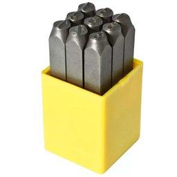 Jogo de Punções Numéricos 2mm com 9 Peças