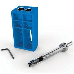 Gabarito para Tapa Furos Custom Pocket-Hole Plug Cutter com Broca de 3/8 Pol.