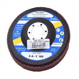 Disco Corsistrip Compacto 10.500 RPM Grão AFM Abrasivo Óxido de Alumínio Cor Vermelho Made In Italy
