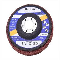 Disco Corsistrip Compacto 11.000 RPM Grão ACS Abrasivo Óxido de Alumínio Cor Vermelho Made In Europe